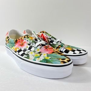Vans Era Tropical Animal Check Sneakers